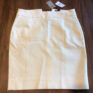 New J.Crew white pencil skirt!